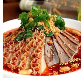 Beef & beef offal in chili sauce